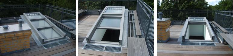 阳光房屋顶等场所; 天窗结构